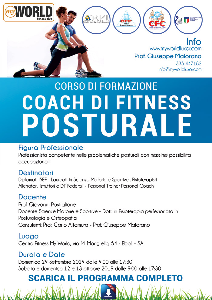 coach fitness posturale  2019
